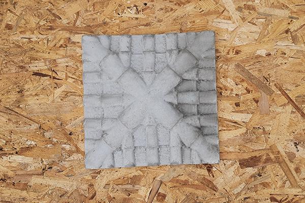 Крышка на кирпичный столб «Черепица» 445*445   Фото - 4