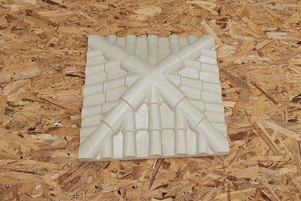 Крышка на кирпичный столб «Черепица» 445*445   Фото - 0