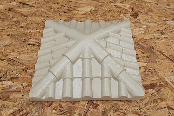 Крышка на кирпичный столб «Черепица» 445*445 | Фото - 1
