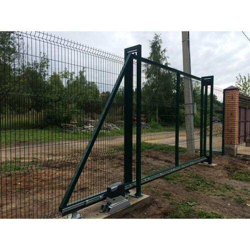 Ворота откатные 3Д сетка