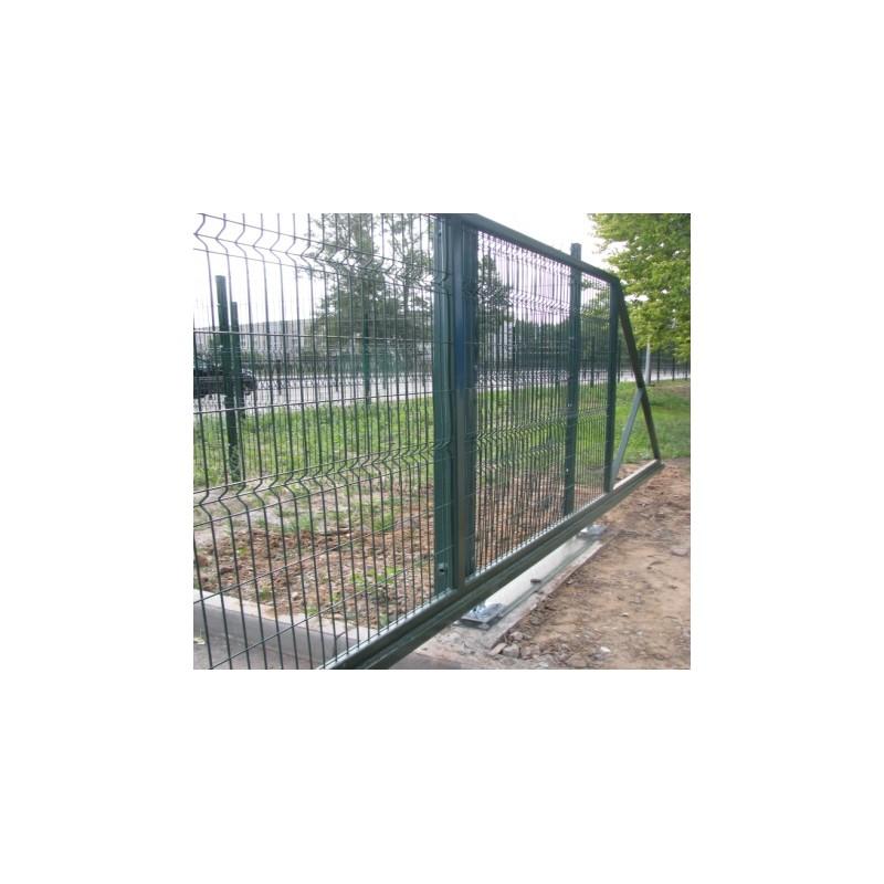 Ворота откатные 3Д сетка   Фото - 1