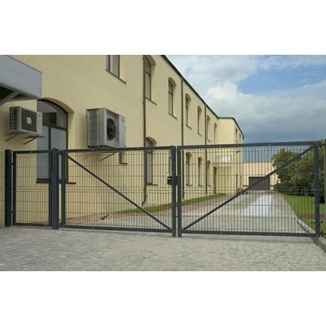 Ворота распашные 3Д сетка