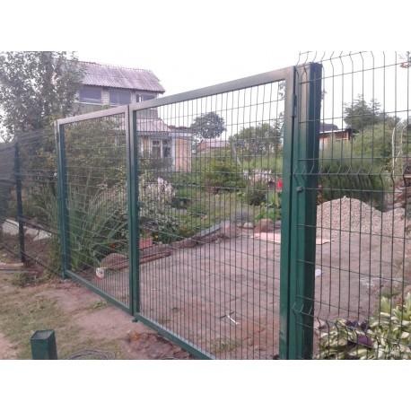 Ворота распашные 3Д сетка   Фото - 1