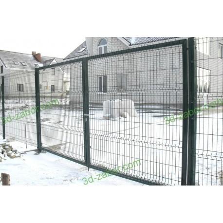 Ворота распашные 3Д сетка   Фото - 2