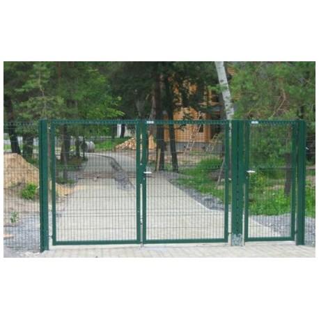 Ворота распашные 3Д сетка | Фото - 3