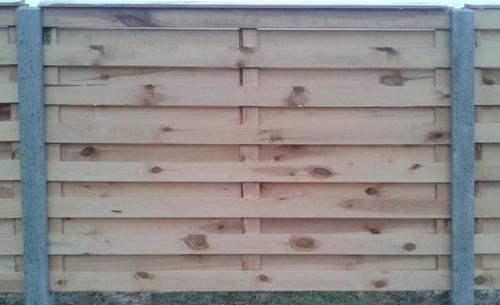 Забор деревянный секционный жалюзи