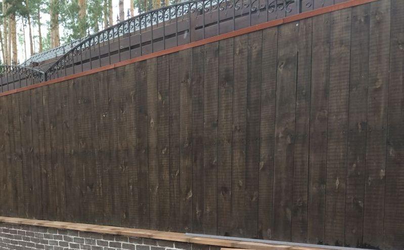 Забор деревянный штакетник широкий | Фото - 11