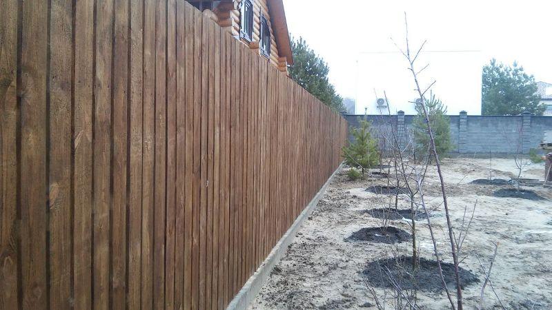 Забор деревянный штакетник широкий | Фото - 9