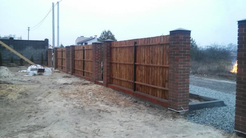 Забор деревянный штакетник широкий | Фото - 5