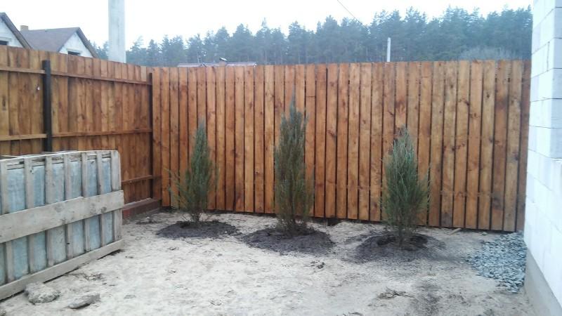 Забор деревянный штакетник широкий | Фото - 6