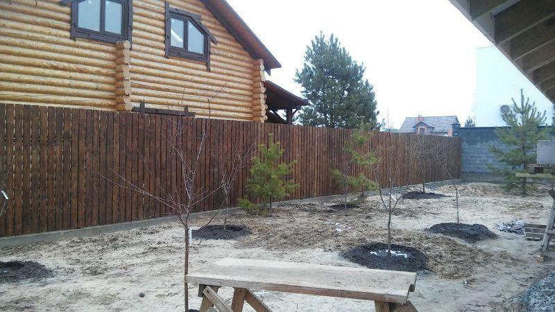 Забор деревянный штакетник широкий | Фото - 7