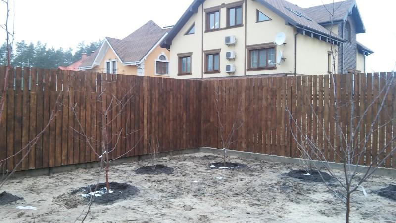 Забор деревянный штакетник широкий | Фото - 8