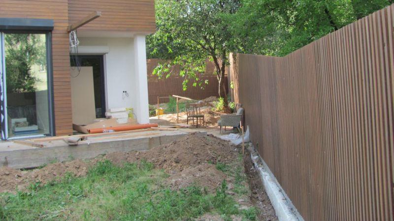 Забор деревянный штакетник узкий   Фото - 2
