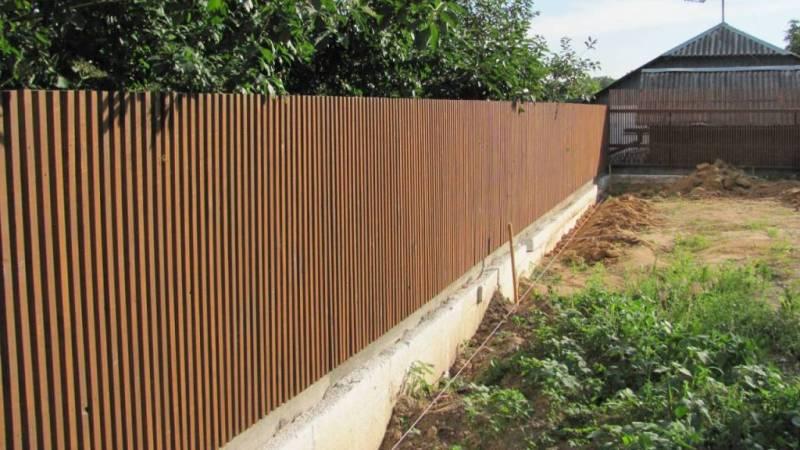 Забор деревянный штакетник узкий | Фото - 3