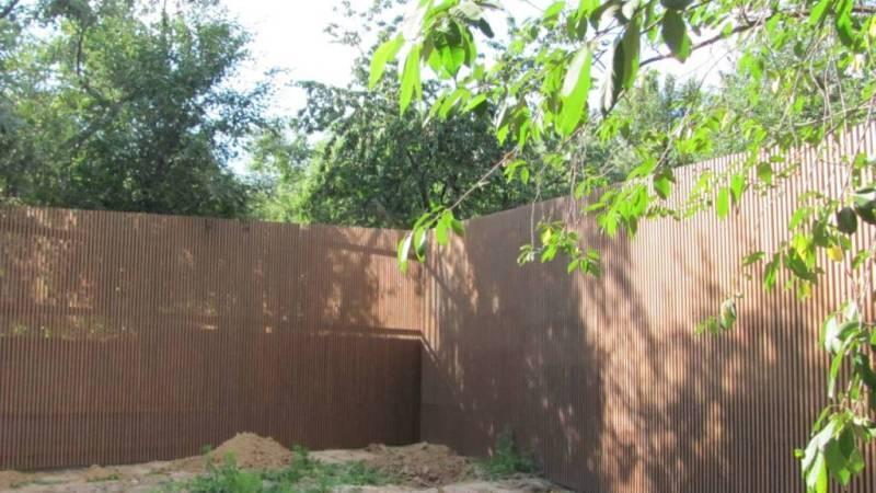 Забор деревянный штакетник узкий   Фото - 6