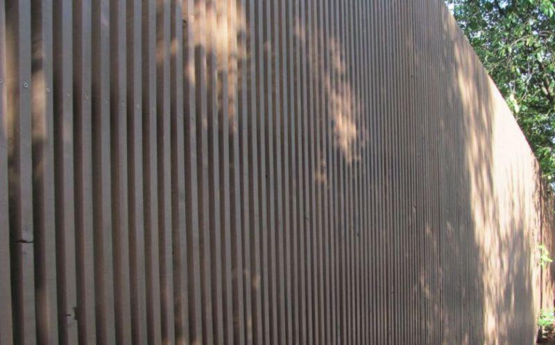 Забор деревянный штакетник узкий   Фото - 7