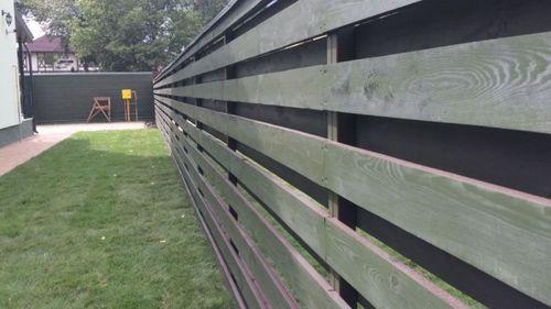 Забор деревянный жалюзи