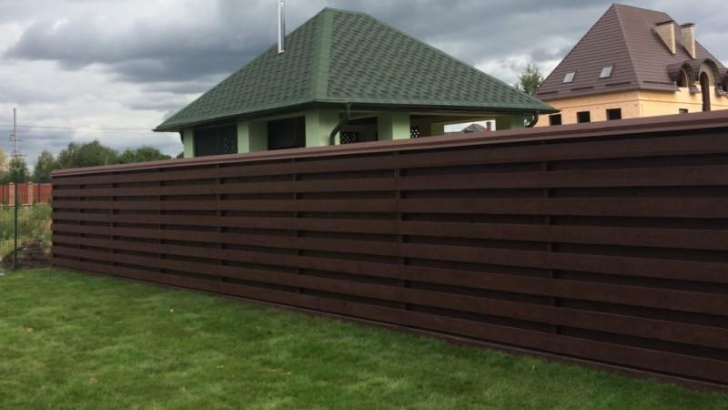 Забор деревянный жалюзи   Фото - 1