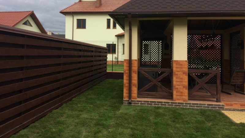 Забор деревянный жалюзи   Фото - 2