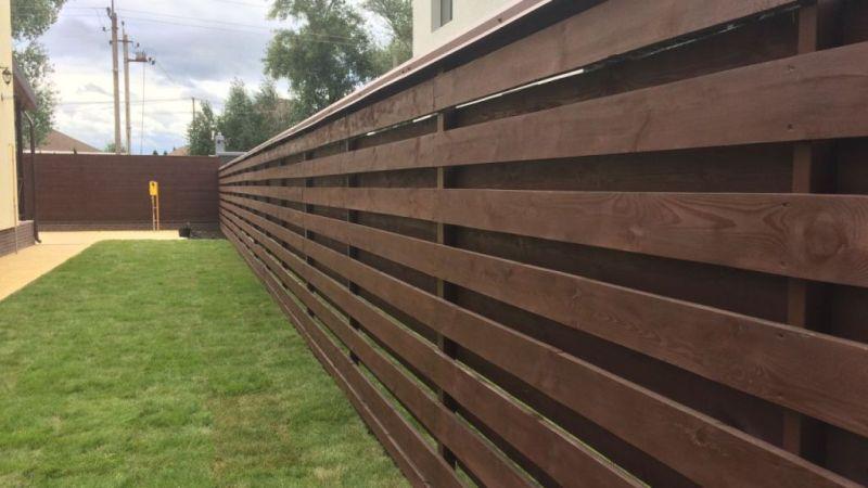 Забор деревянный жалюзи   Фото - 3