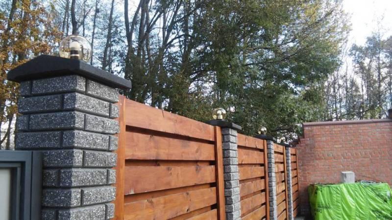 Забор деревянный жалюзи   Фото - 4