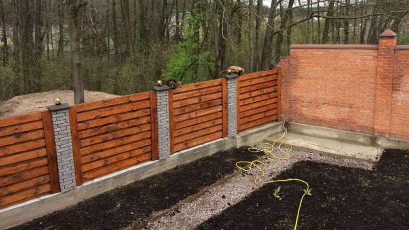 Забор деревянный жалюзи   Фото - 8