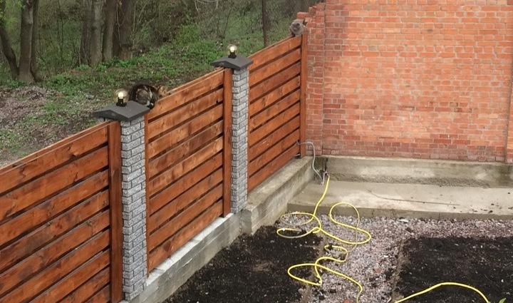 Забор деревянный жалюзи   Фото - 9