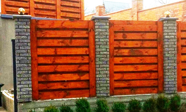 Забор деревянный жалюзи   Фото - 10