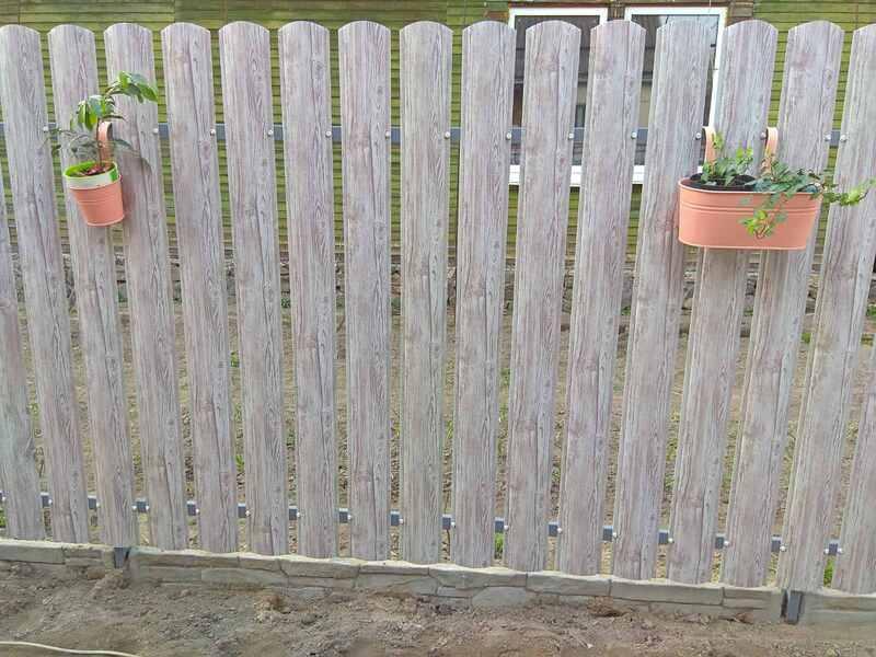 Забор из металлического штакетника   Фото - 0